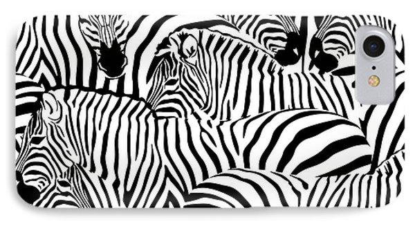 Zebra herd clipart freeuse library Zebra Stripes iPhone 8 Cases | Fine Art America freeuse library