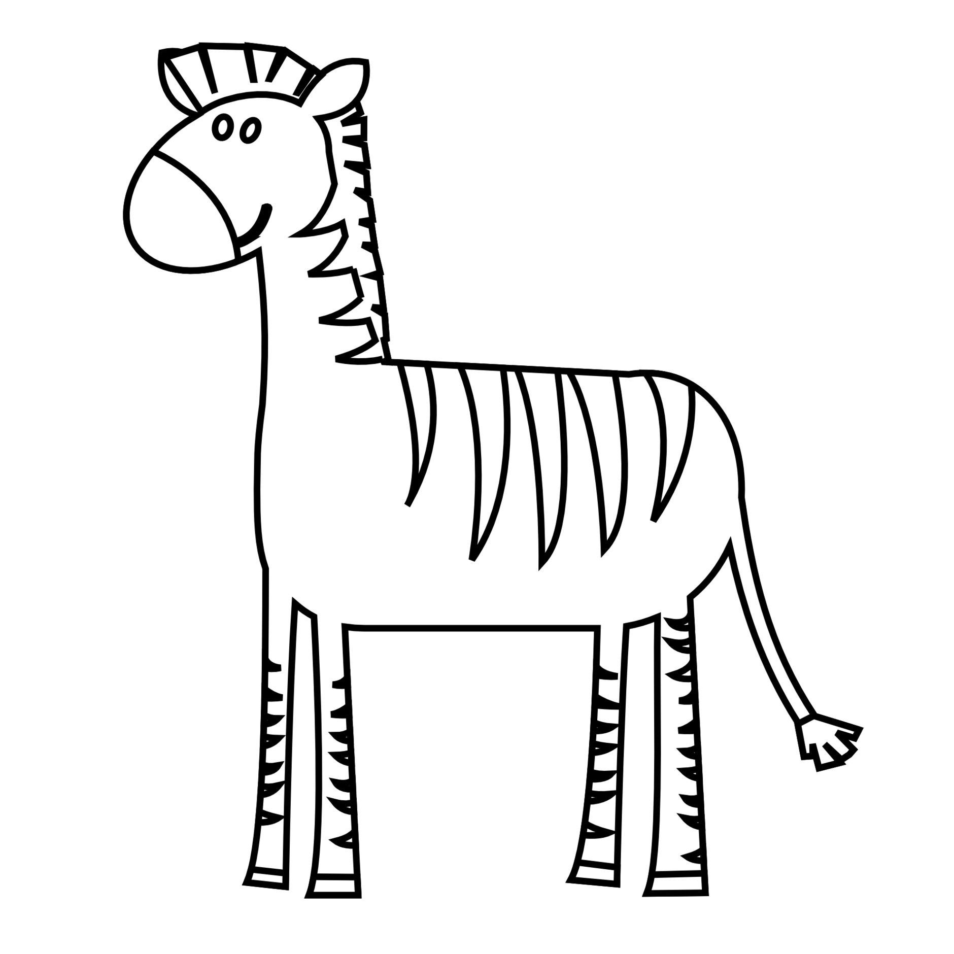 Zebra simple clipart clipart royalty free library Free Zebra Clipart Black And White, Download Free Clip Art ... clipart royalty free library
