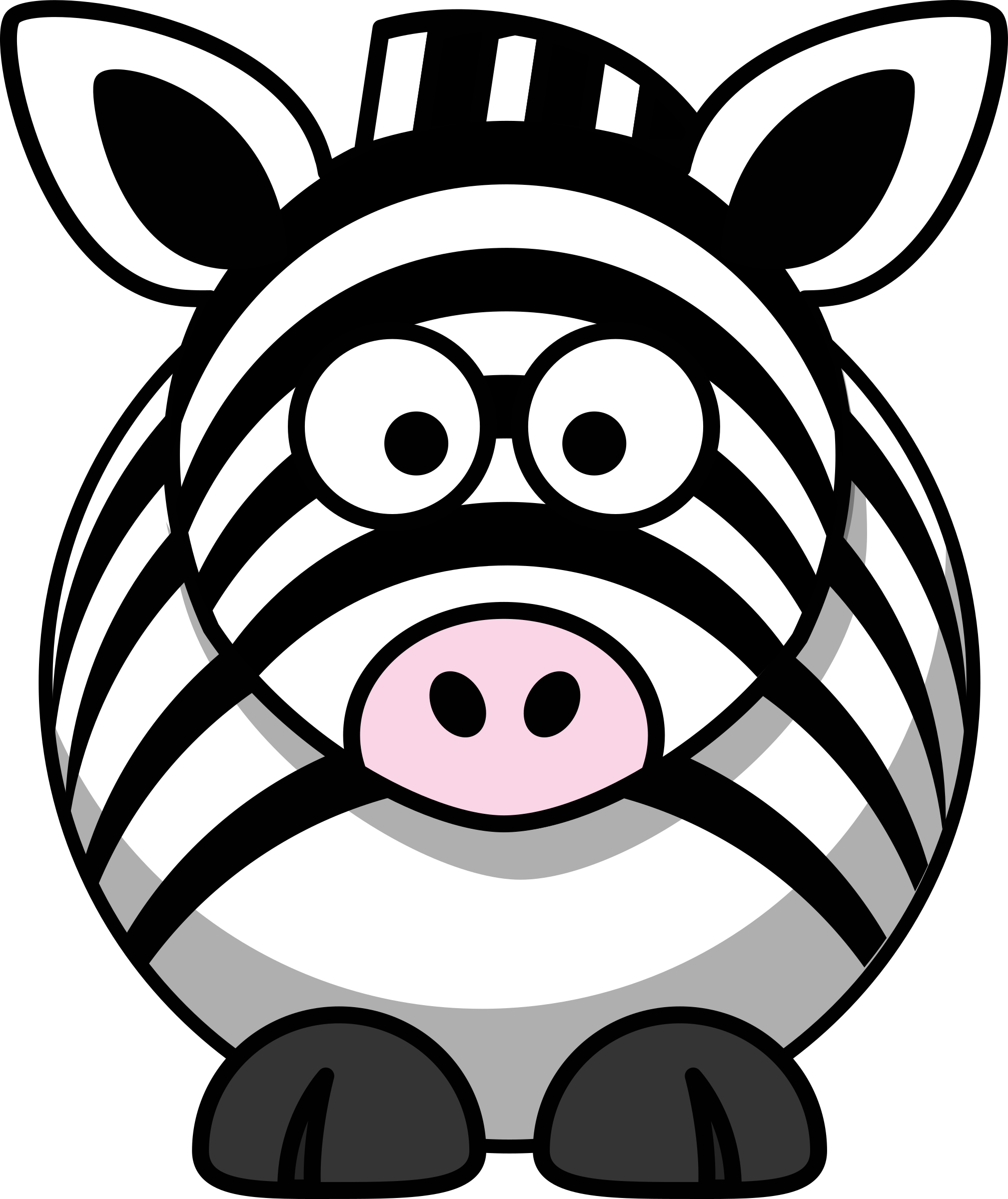 Zebra star clipart picture black and white Cartoon zebra Icons PNG - Free PNG and Icons Downloads picture black and white