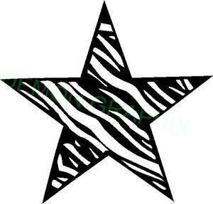 Zebra stripe star clipart image free download Details about Zebra striped star w/outline vinyl decal/sticker window  laptop animal print image free download