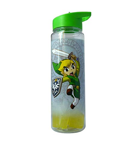 Zelda bottles clipart svg library JUST FUNKY Legend of Zelda, Link Water Bottle with Molded Ice Cubes, 26oz svg library
