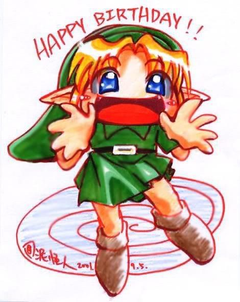 Zelda characters birthday clipart jpg royalty free library Birthday Zelda | Songs of Storms in The Shire | Zelda ... jpg royalty free library