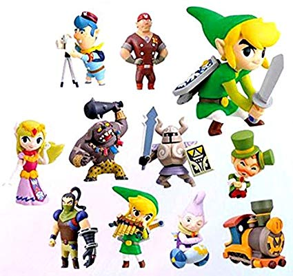 Zelda characters birthday clipart banner free Legend of Zelda Spirit Tracks 2 Inch PVC Set of 11 Figures banner free