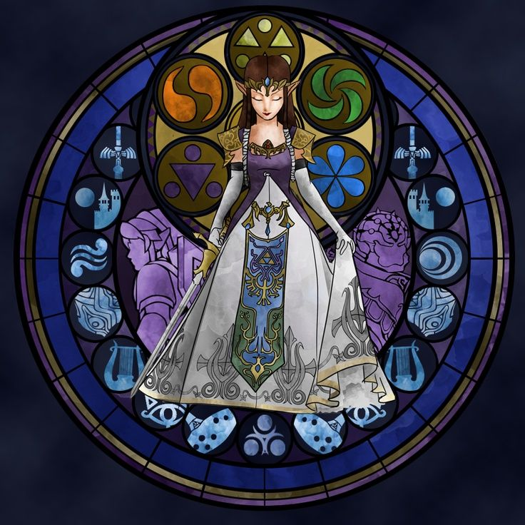 Zelda stained glass window clipart banner free download Zelda Stained Glass Art | Princess Zelda, Kingdom Hearts ... banner free download