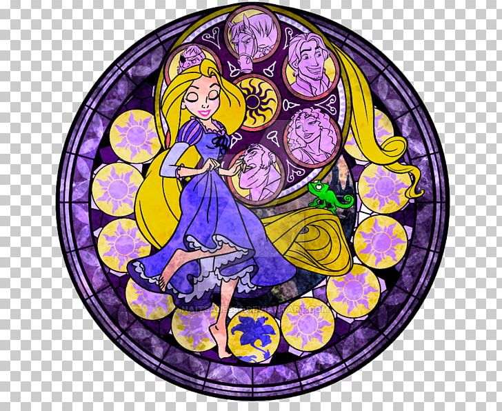 Zelda stained glass window clipart picture free library Stained Glass Kingdom Hearts III Rapunzel PNG, Clipart ... picture free library