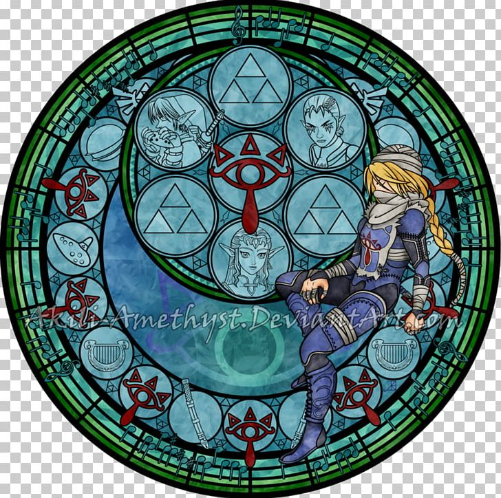 Zelda stained glass window clipart image Stained Glass Kingdom Hearts: Chain Of Memories Princess ... image