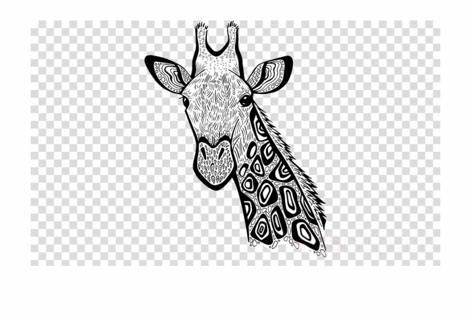 Zentangle art clipart banner transparent library Zentangle Giraffe Art Clipart Giraffe Line Art - Hair Color ... banner transparent library