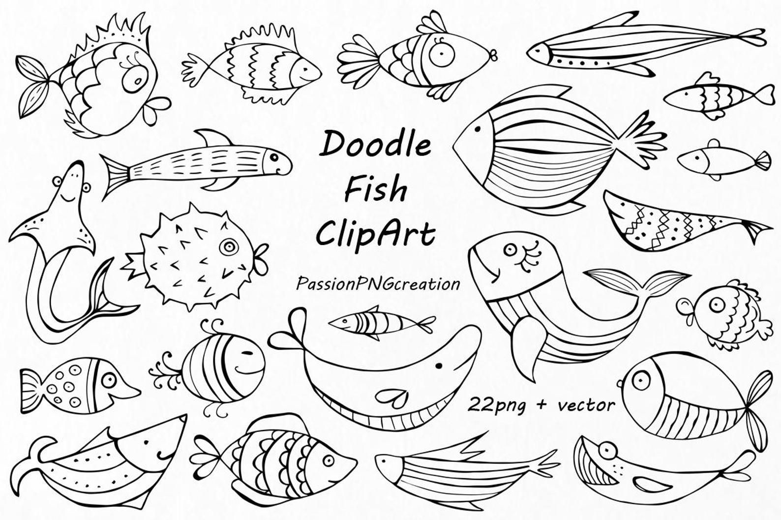 Zentangle fish clipart vector black and white library Pin by Sally Navis on Zentangle/Doodles in 2019 | Fish ... vector black and white library