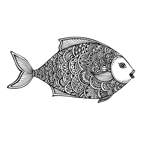 Zentangle fish clipart clipart library stock Zentangle Fish svg Mandala vector, digital clipart, t-shirt ... clipart library stock