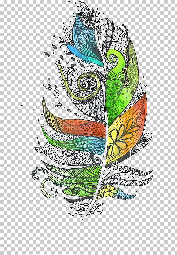 Zentangle fish clipart clip freeuse Zentangle The Enchanted Forest Feather Doodle Drawing ... clip freeuse