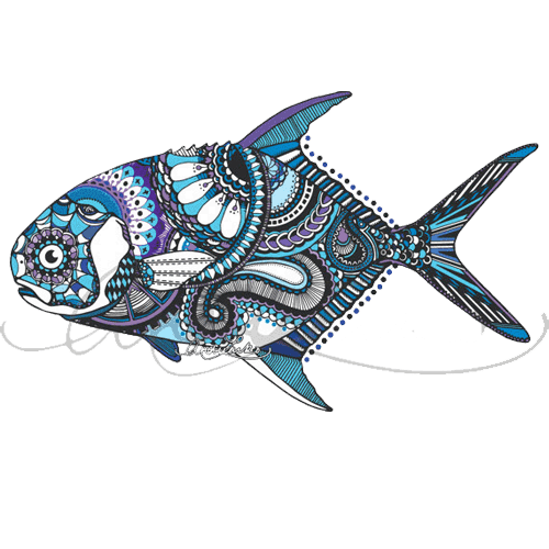 Zentangle fish clipart picture freeuse Fish zentangle clipart images gallery for free download ... picture freeuse