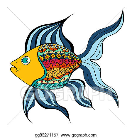 Zentangle fish clipart vector freeuse download Clipart - Zentangle stylized fish. Stock Illustration ... vector freeuse download