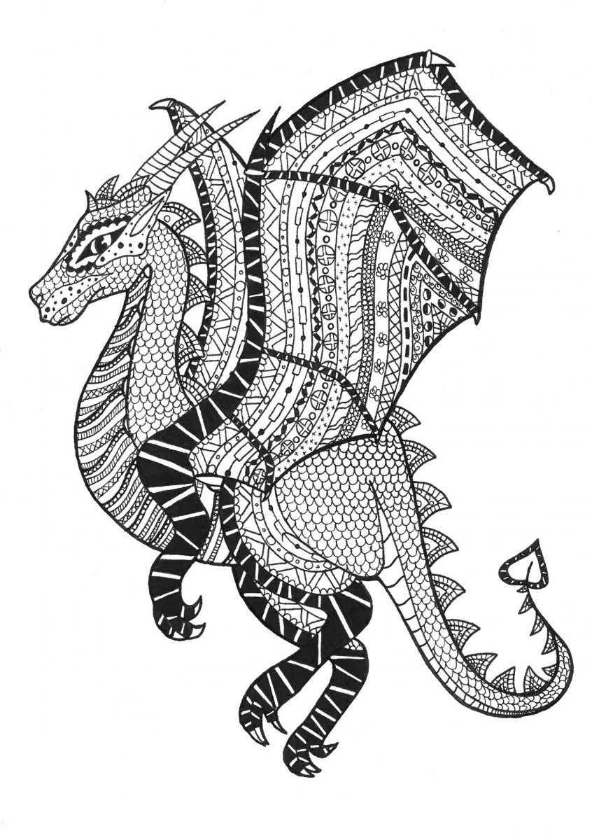 Zentangle fish clipart svg free library Coloring: Coloring Pages Zentangle Collection Of Clipart ... svg free library