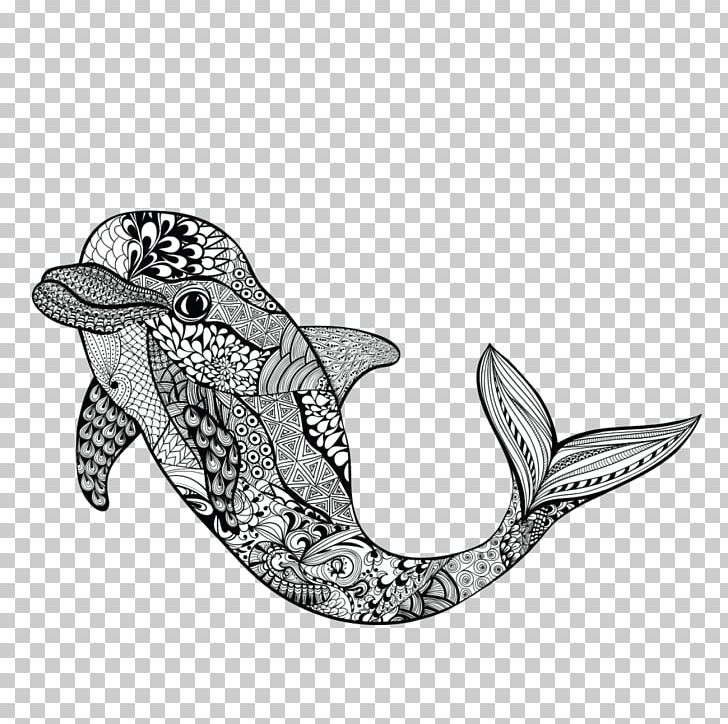 Zentangle fish clipart banner free download Zentangle Graphics Dolphin Drawing Doodle PNG, Clipart ... banner free download