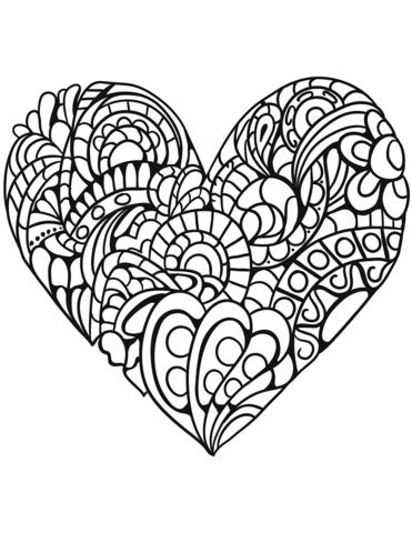 Zentangle heart clipart