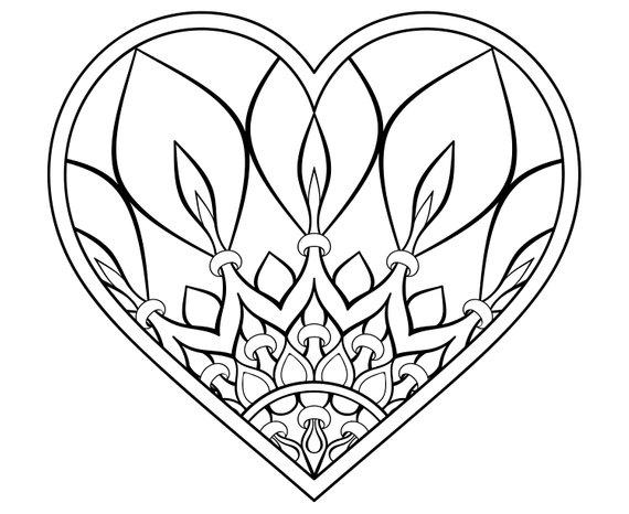 Zentangle heart clipart picture black and white stock Heart, Mandala, Zentangle, Tattoo,Silhouette,SVG,Graphics ... picture black and white stock