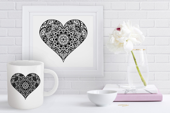 Zentangle heart clipart banner free library Heart Mandala SVG, Heart Zentangle SVG, Heart SVG Files, Heart Clipart. banner free library