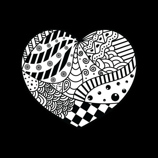 zentangle-heart | Photography Classes @ MERHS |Zentangle Heart Graphics