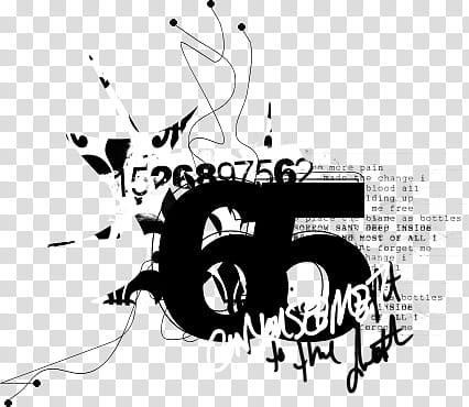 Zero chante clipart svg transparent download Visual Chaos V, numbers art transparent background PNG ... svg transparent download