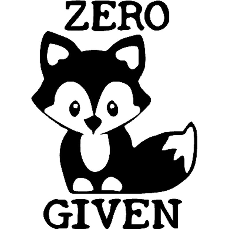 Zero fox given clipart svg free stock 15*10.9cm Zero Fox Given Decal Vinyl Sticker Laptop Car Window Cute And  Interesting Fashion Sticker Decals svg free stock
