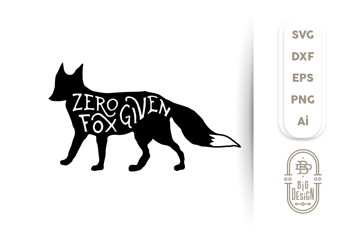 Zero fox given clipart transparent download SVG Cut File: Zero FOX Given, Fox Silhouette By Big Design ... transparent download