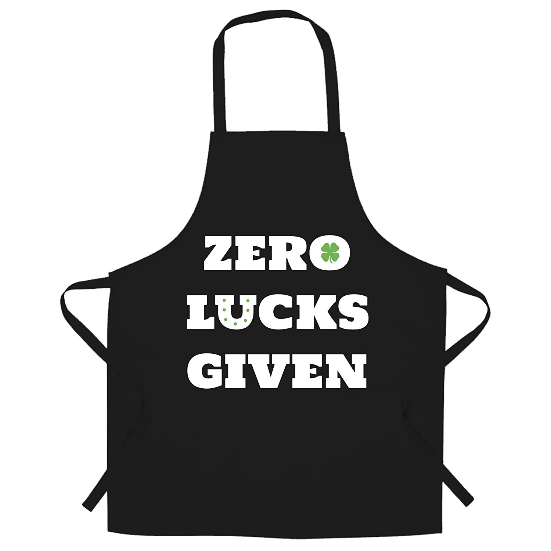 Zero lucks given clipart clip free stock Amazon.com: St. Patricks Chefs Apron No Lucks Given Slogan ... clip free stock