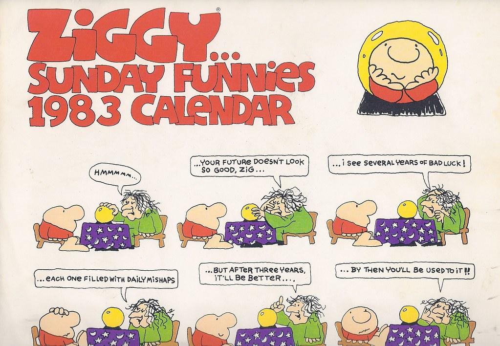 Ziggy fuzz clipart png transparent stock Ziggy calendar, 1983 | Received this 1983 Ziggy calendar for ... png transparent stock