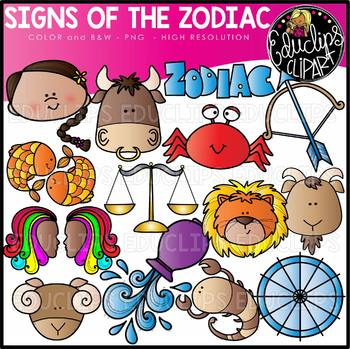 Zodiac signs images clipart picture royalty free stock Zodiac Signs Clip Art Set {Educlips Clipart} picture royalty free stock