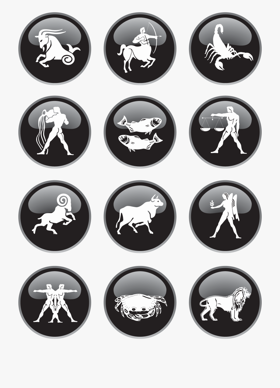 Zodiac signs images clipart graphic library Black Zodiac Signs Png Clipart Picture - All Zodiac Signs ... graphic library