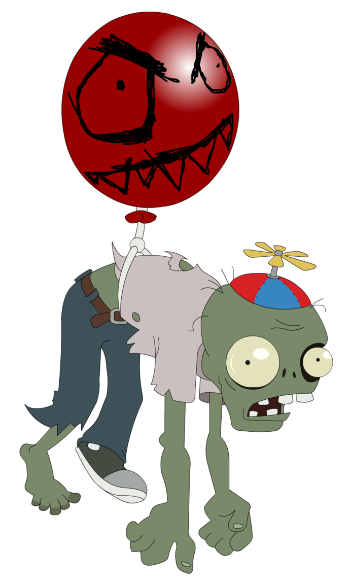 Zombie cat clipart clipart transparent stock Plants vs. Zombies - Balloon Zombie by flash-gavo on deviantART ... clipart transparent stock