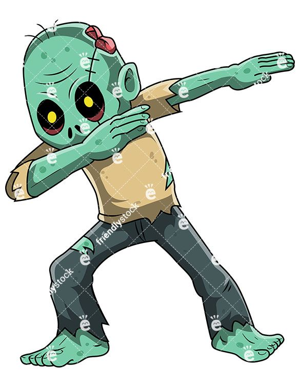 Zomie clipart picture library download A Dabbing Zombie | Zombie Clipart | Zombie cartoon, Zombie ... picture library download