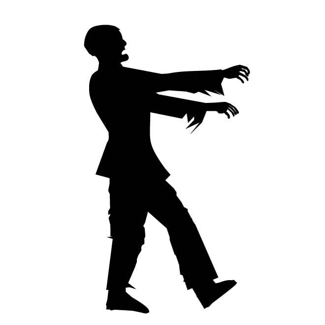 Zombie clipart outline image transparent stock WALKING ZOMBIE - Free vector image in AI and EPS format. image transparent stock