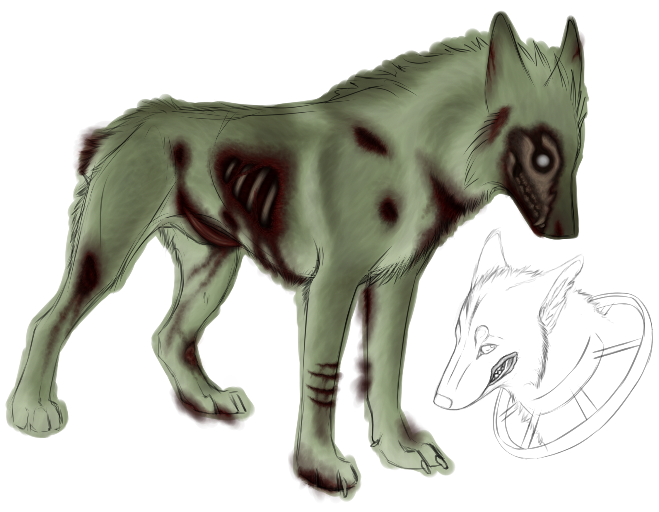 Zombie dog clipart clipart black and white library Zombie Dog Drawing at GetDrawings.com | Free for personal use Zombie ... clipart black and white library