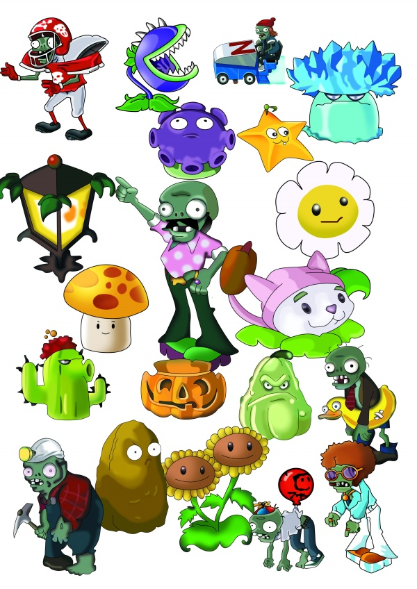 Zombie game clipart picture free stock Plants vs zombies game PSD images | Creative PSD - Clip Art ... picture free stock