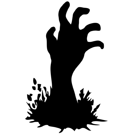 Zombie hand clipart graphic black and white Black and White Zombie Hand Clipart transparent PNG - StickPNG graphic black and white