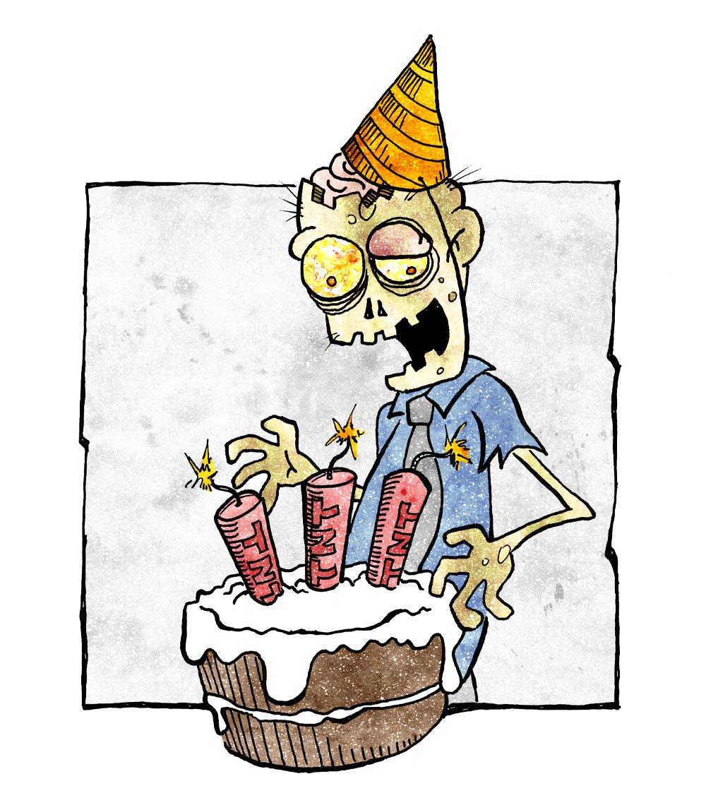 Zombie happy birthday clipart svg library stock ZOMICS-Happy-Birthday - Daily Dead svg library stock
