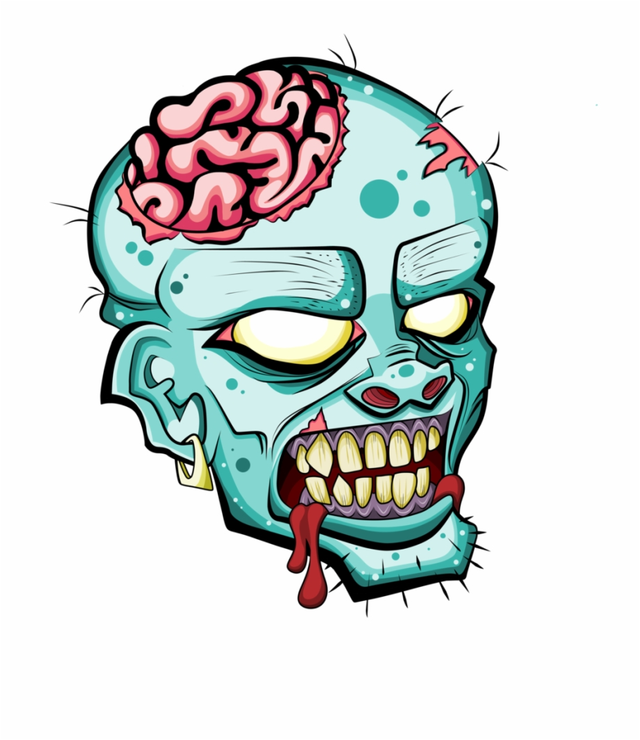 Zombie teeth clipart clipart transparent Zombie Head Free Clipart Please Credit By Deadly Voo ... clipart transparent