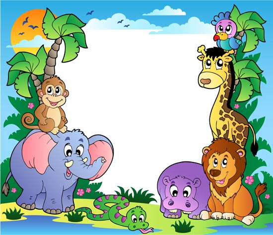 Zoo animal border clipart free svg black and white download 12 Free Vector Zoo Animals Images - Cute Vector Animals ... svg black and white download