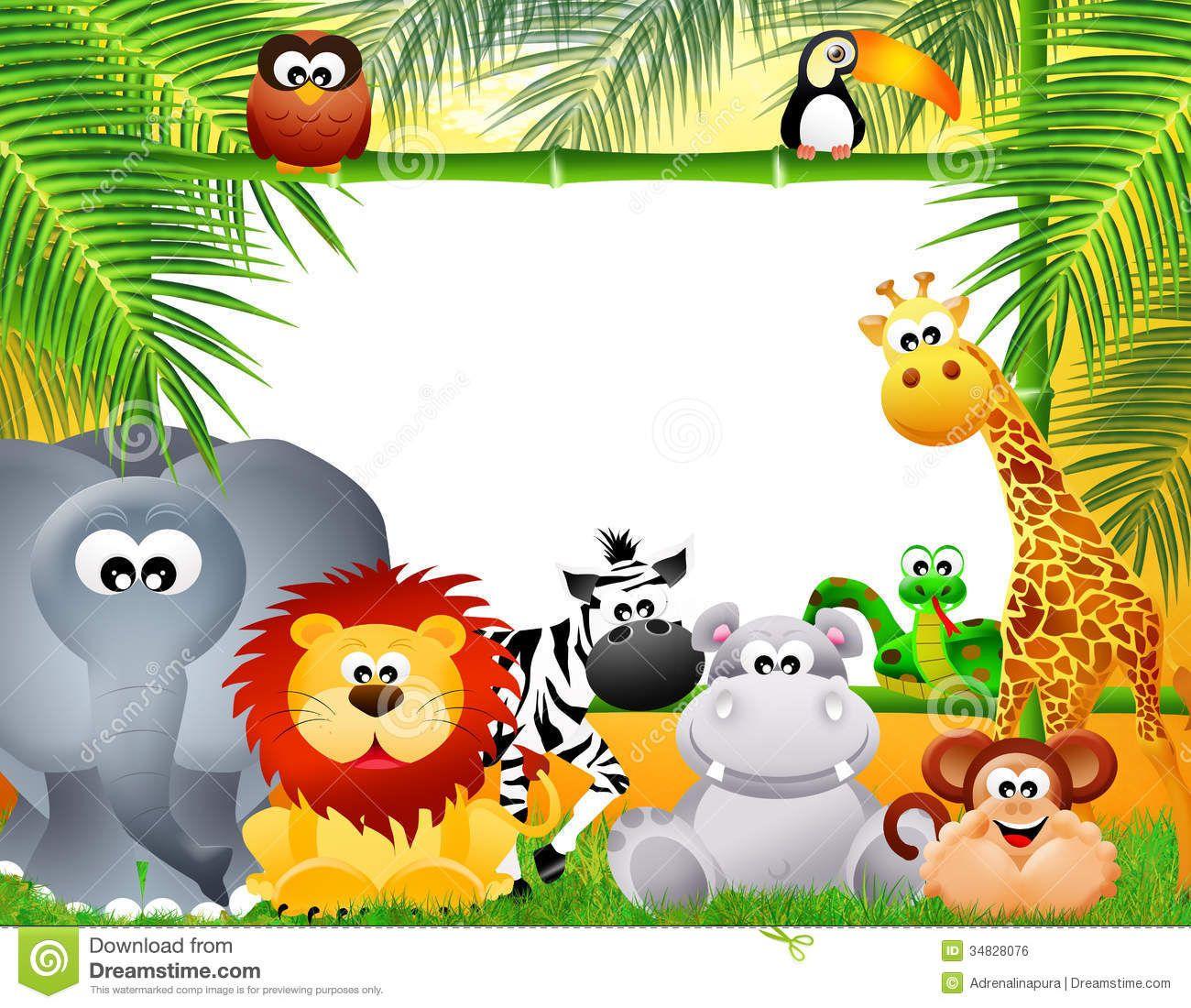 Zoo animal border clipart free clipart royalty free library Zoo Animals Cartoon Royalty Free Stock Image - Image ... clipart royalty free library