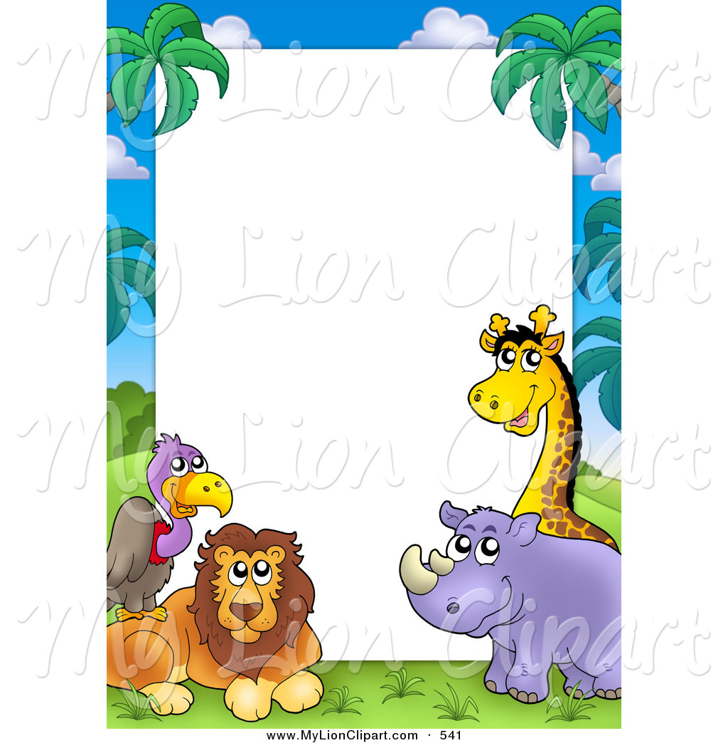 Lion border clipart svg freeuse library Animal Border Clipart | Free download best Animal Border ... svg freeuse library