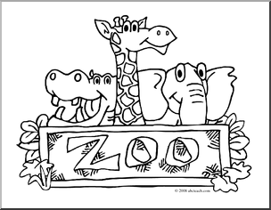 Zoo animal clipart sheet clipart transparent stock zoo animals coloring pages coloring pages printable. printable zoo ... clipart transparent stock