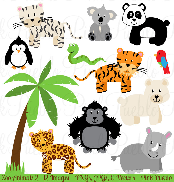 Zoo animal clipart sheet image library download Clipart zoo animal pictures - ClipartFest image library download