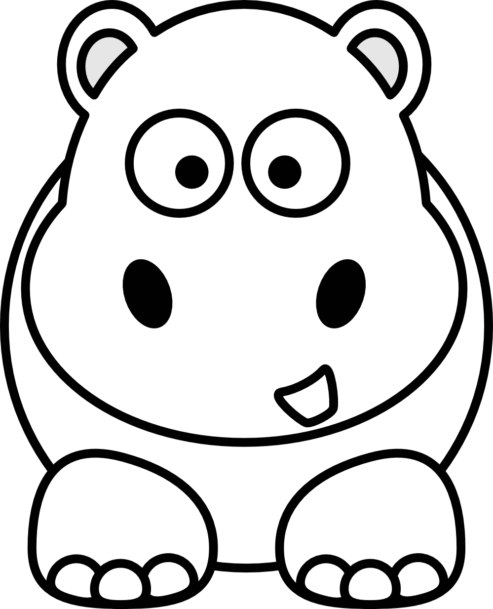 Zoo animal faces clipart black and white graphic transparent download Free Black And White Cartoon Animals, Download Free Clip Art ... graphic transparent download