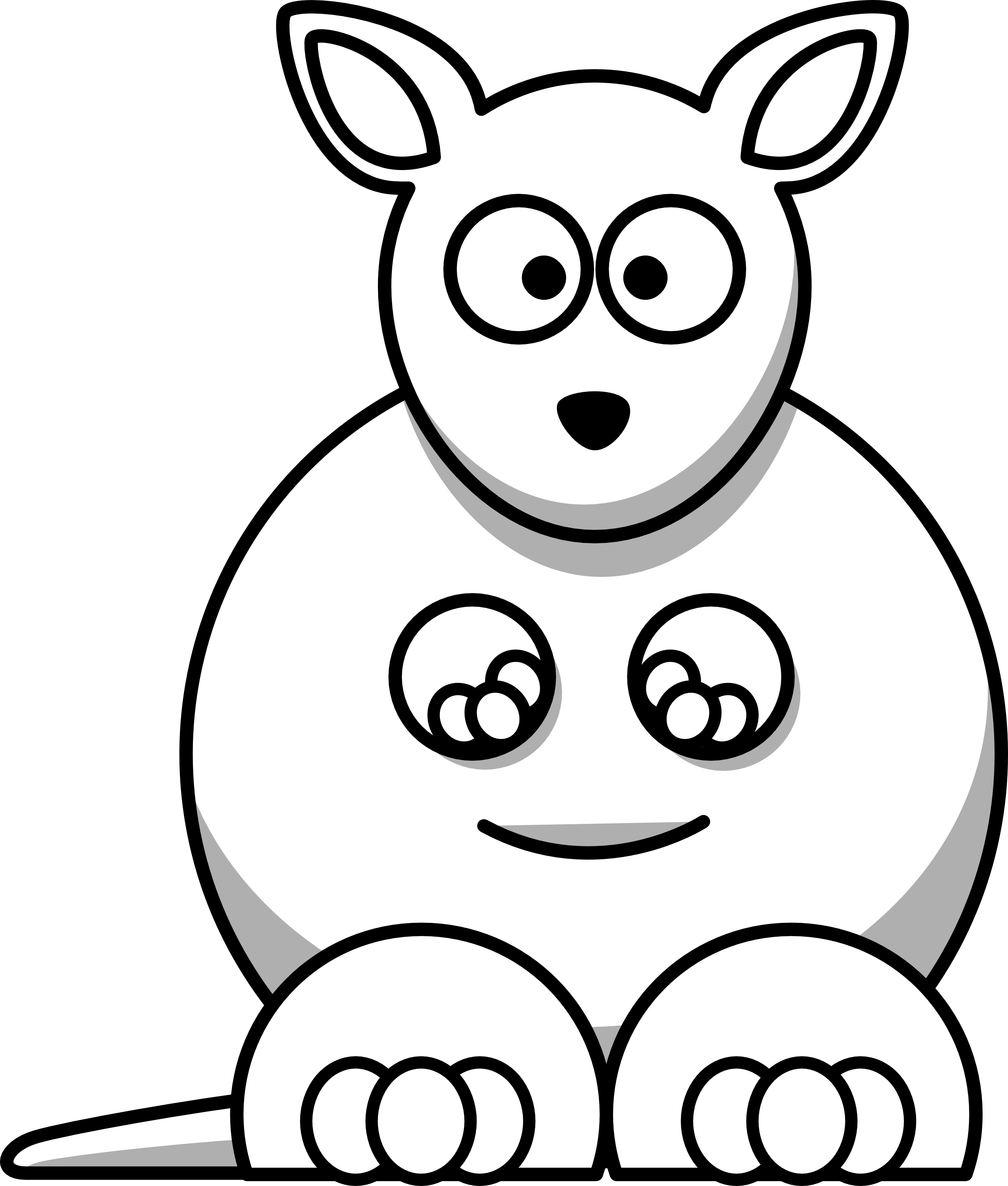 Zoo animal faces clipart black and white vector freeuse library Free Black And White Cartoon Animals, Download Free Clip Art ... vector freeuse library