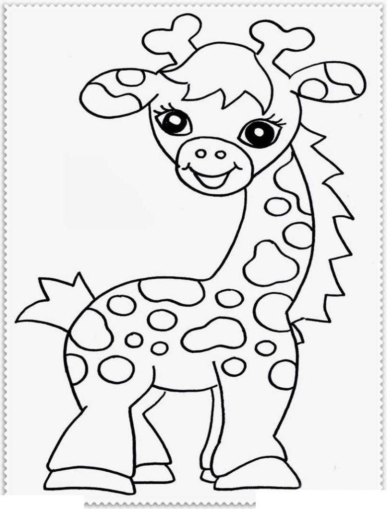 Zoo animal faces clipart black and white image download coloring ~ Free Zoo Animals Coloring Pages For Preschoolers ... image download
