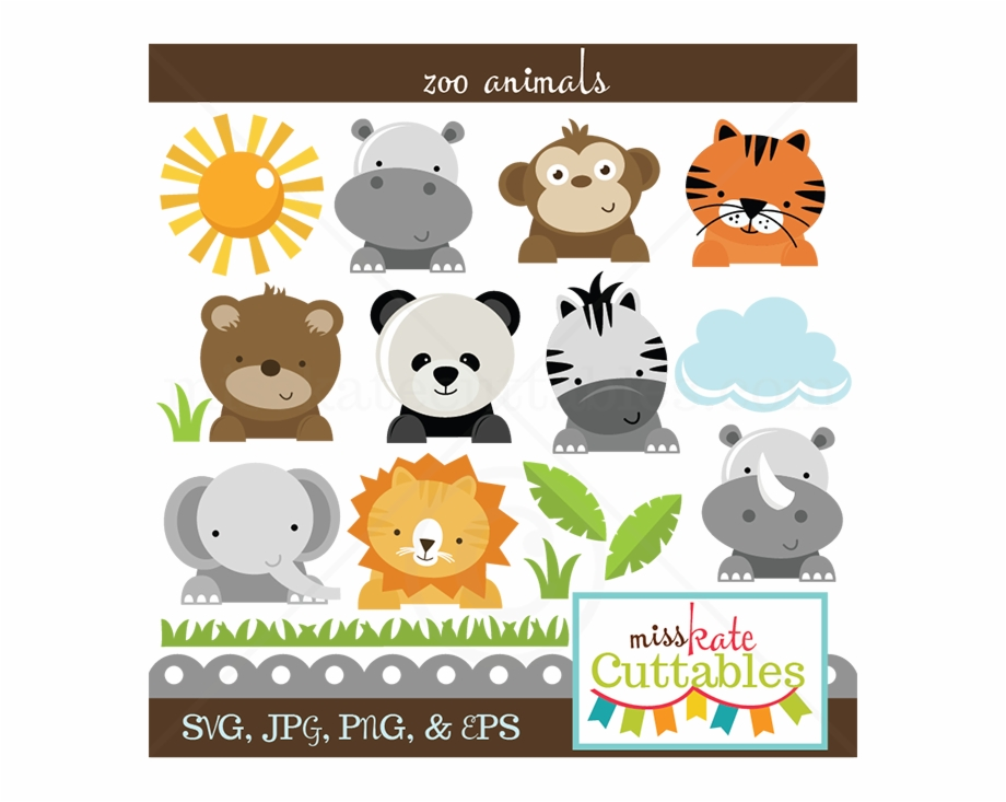Zoo animals clipart svg