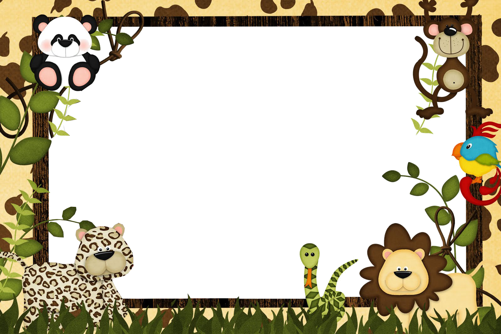 Zoo circle picture frames clipart clipart library library HD Zebra Png - Safari Frames , Free Unlimited Download ... clipart library library