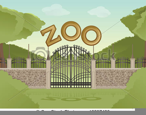 Zoo clipart backdrop black and white Zoo Background Clipart | Free Images at Clker.com - vector ... black and white