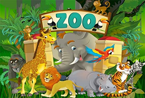 Library Of Zoo Banner Free Stock Backdrop Png Files