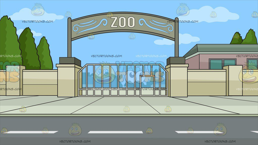 Zoo clipart backdrop image free download Zoo Entrance Background image free download